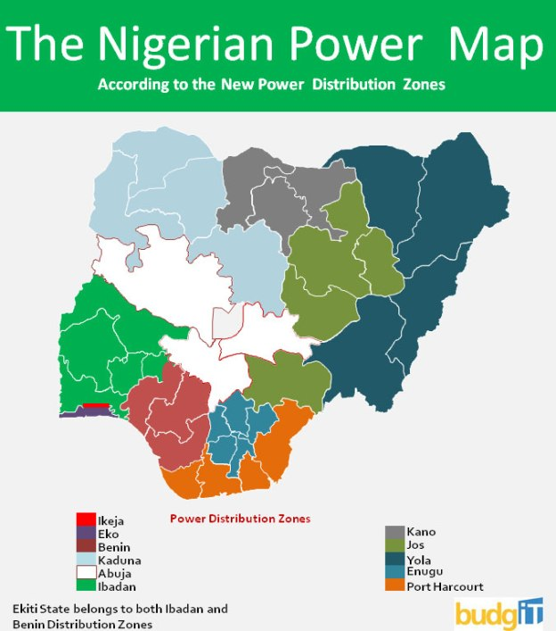 Nigeria Power Map